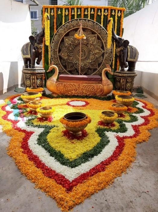 Elephant Mangalasnanam