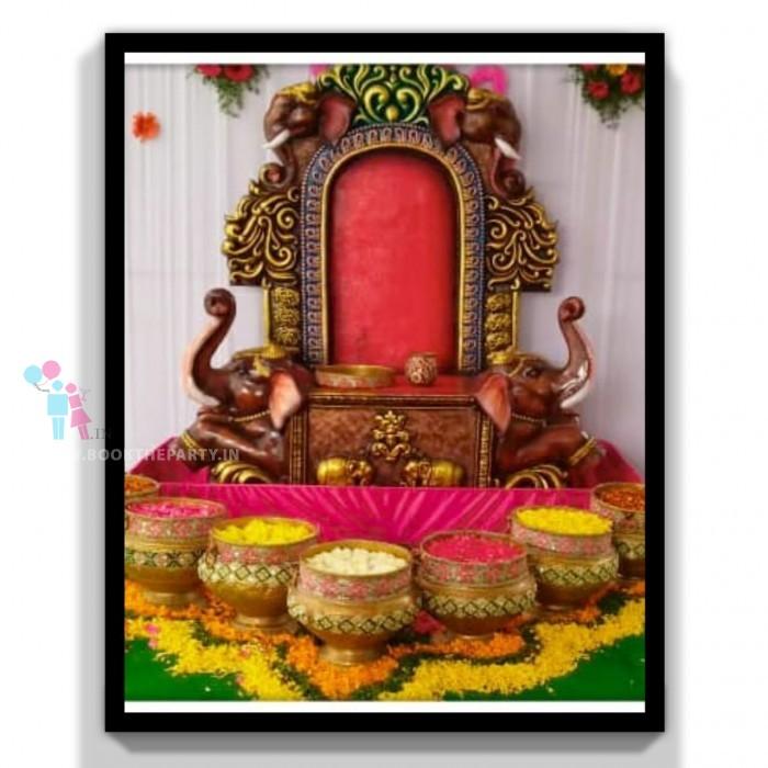 Elephant Chair with Mangalasnanam Theme