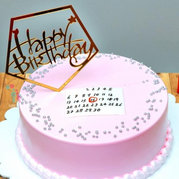 Pink Blush Birthday Cake