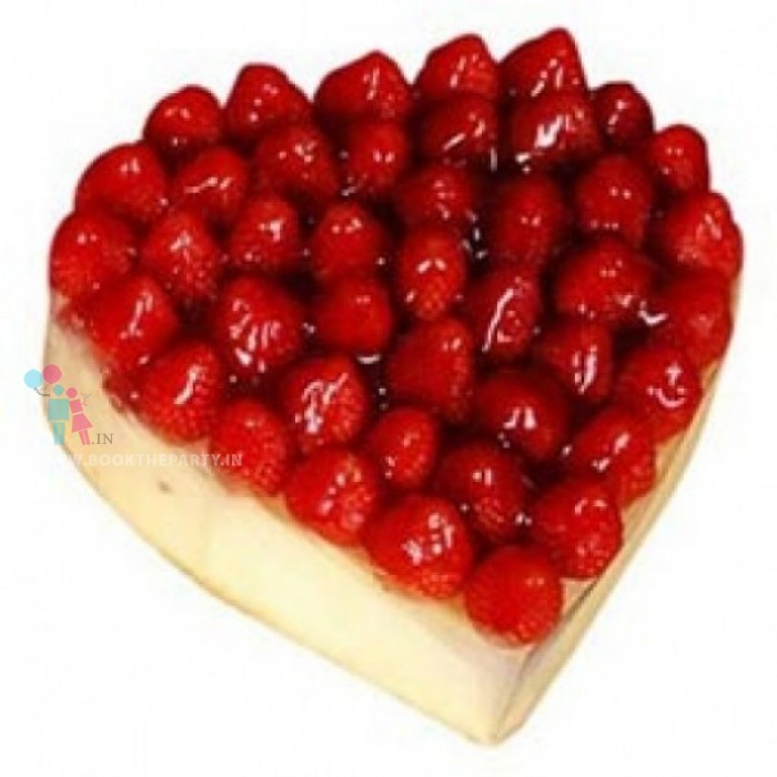 Heart Shape Strawberry Cake