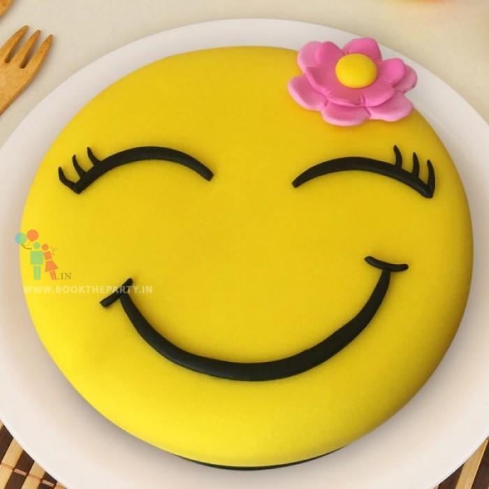 Flower Girl Smiley Cake