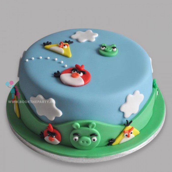 Angry Birds Character Cake