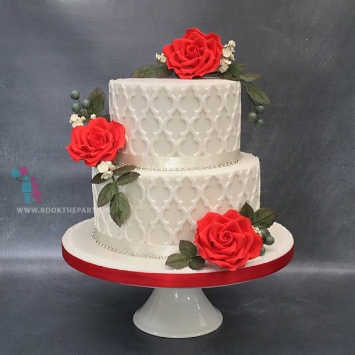 Ethereal Two-Tier Cake