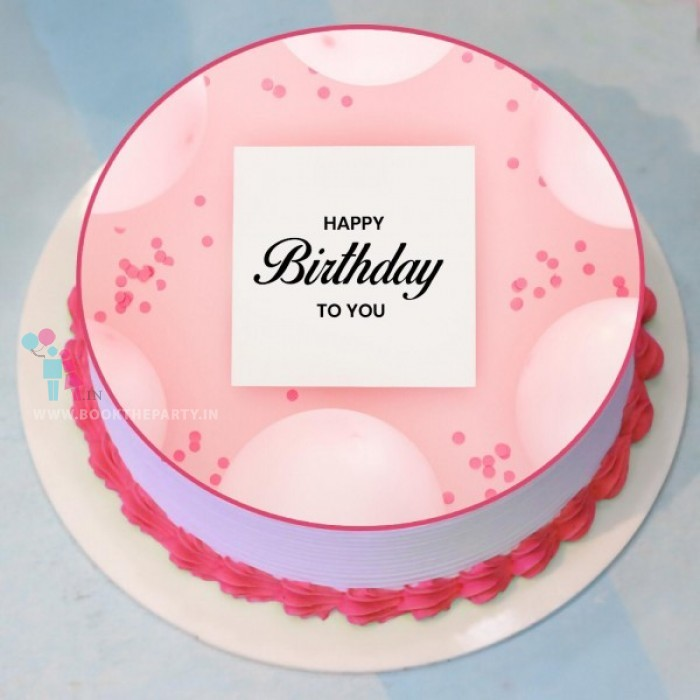 Strawberry Punch Photo Cake