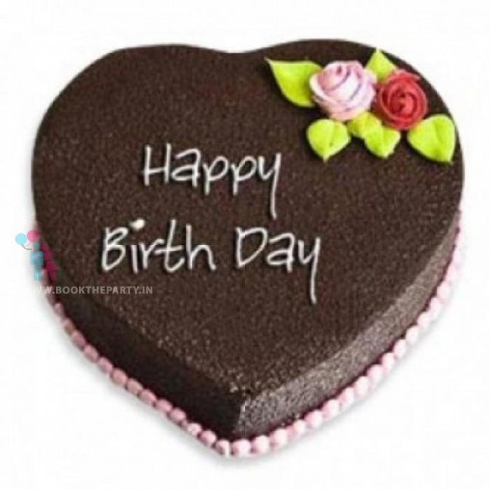 5 Star Heart Shape Chocolate Cake