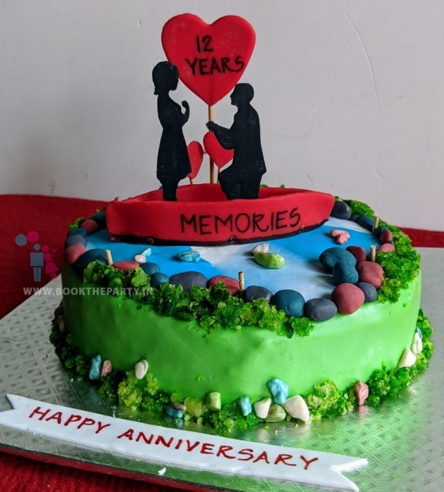 The customized lakeside Proposal Cake