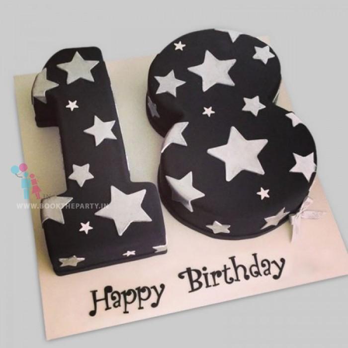 Sweet Eighteen Birthday Cake