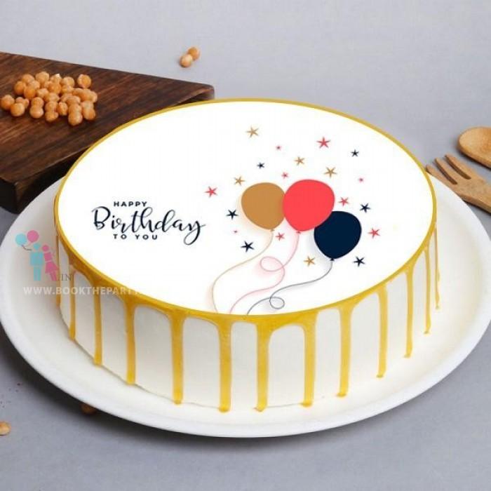 Creamy Butterscotch Birthday Cake