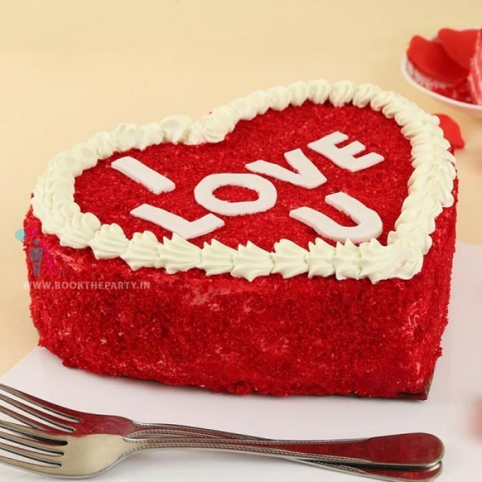 Red Heart Cake- Red Velvet