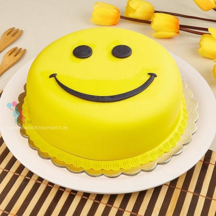 Smiling Face Emoji Cake