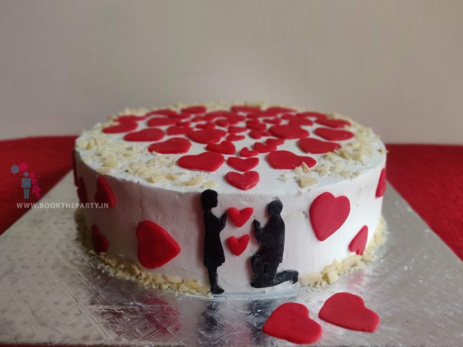 The Anniversary Special Hearts Cake