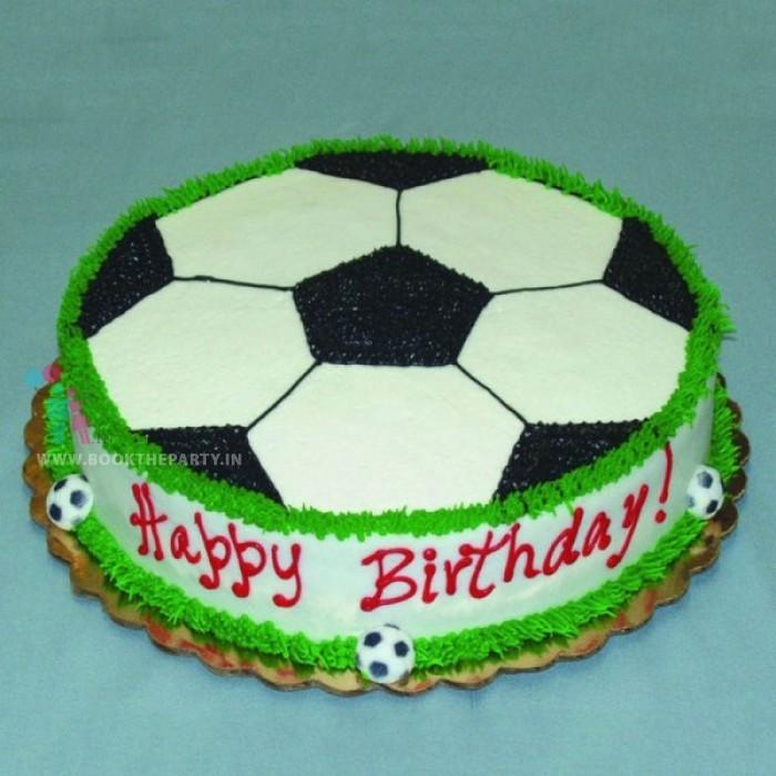 Football Cream Cake