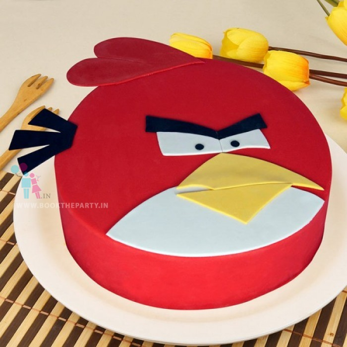 Appealing Angry Bird Cake