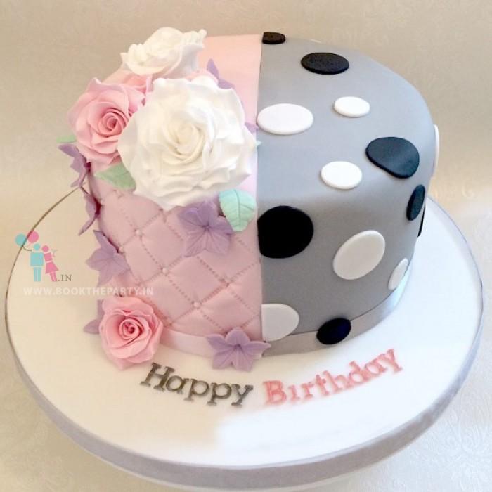 Strawberry and Vanilla Designer Cake