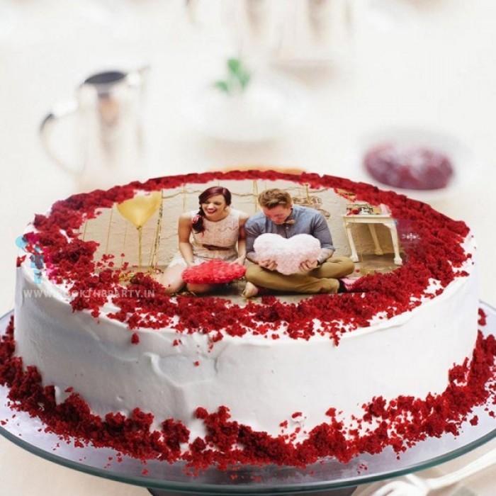 Photo Red Velvet Cake-- round