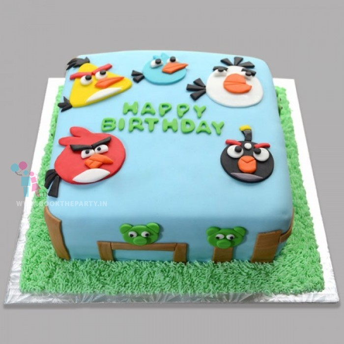Angry Birds Cake For Kids