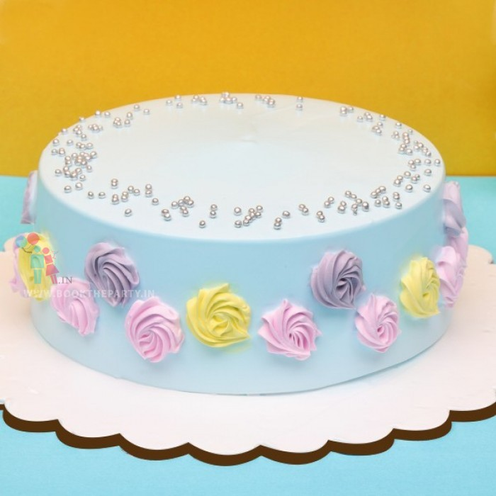 Floral Delight Vanilla Cake