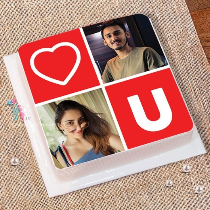 Love You Photo Cake