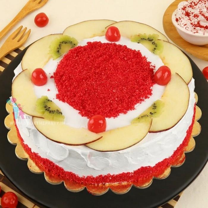 Red Velvet Fruit Punch Cake