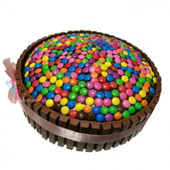 Rainbow Kit Kat Cake