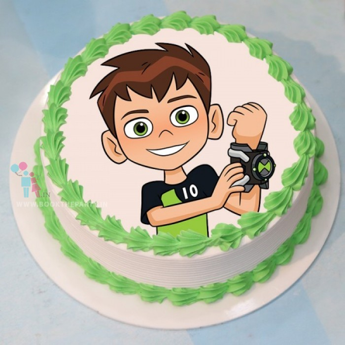 Ben 10 Cartoon Cake