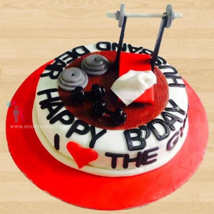 Husband Gym Cake