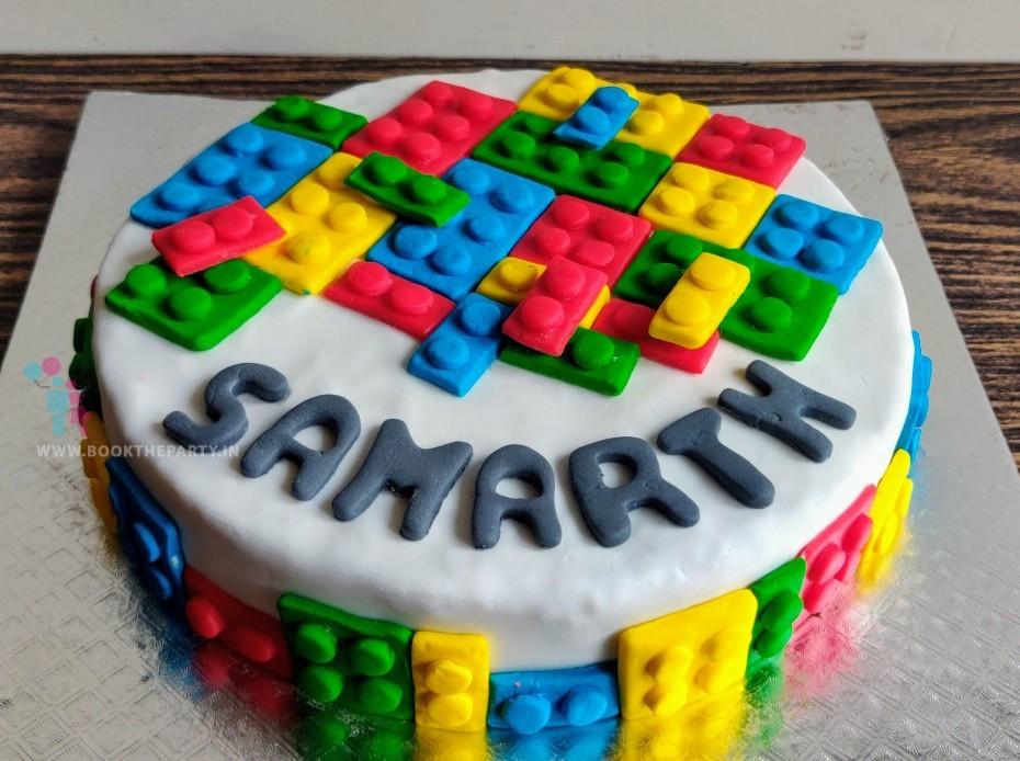 The Lego Theme Cake