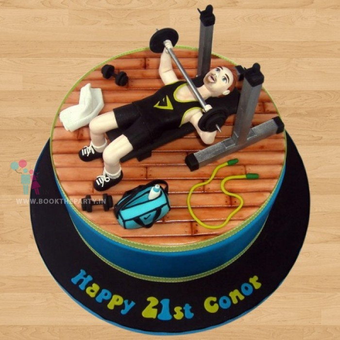 21st BDay Gym Cake