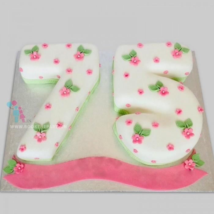 75 Number Cake