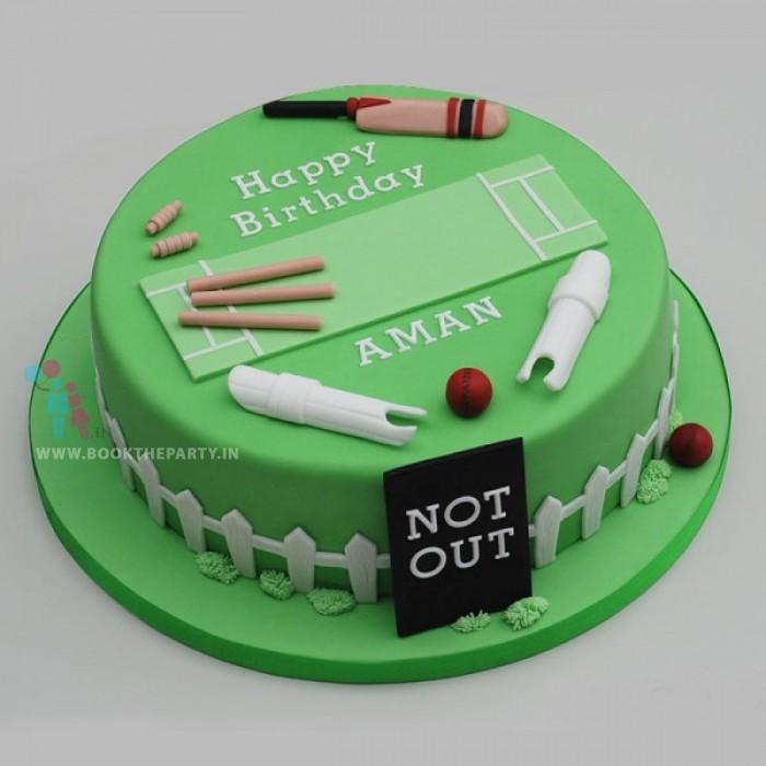 Cricket Theme Cake
