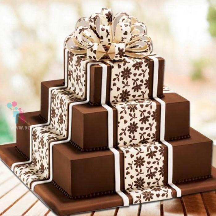 3 Tier Chocolate Lace Cake