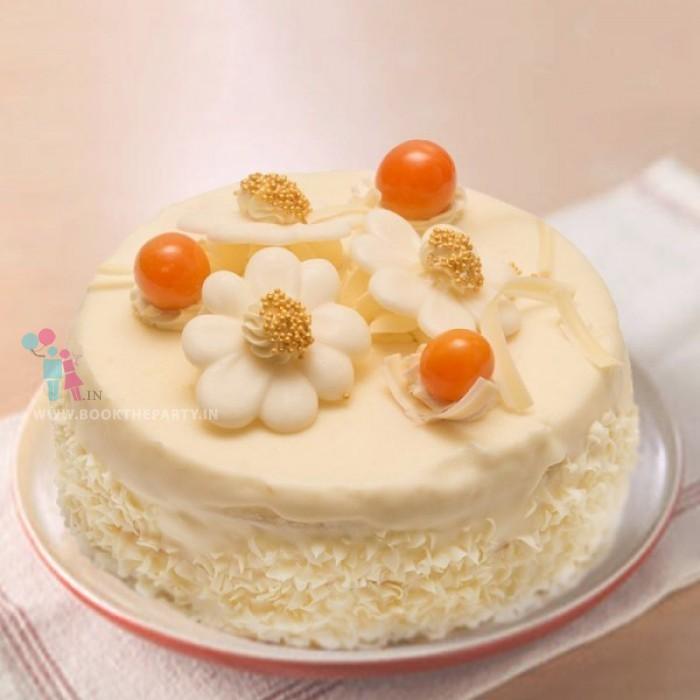 Sugarfree White Forest Cake Half Kg