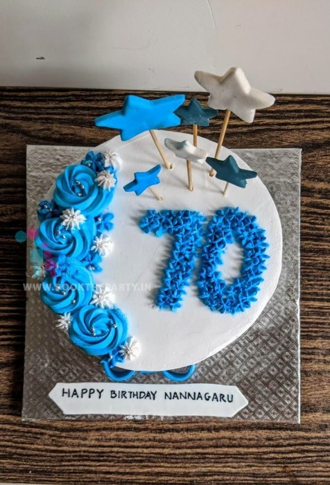 The Blue and White Supercool Cake