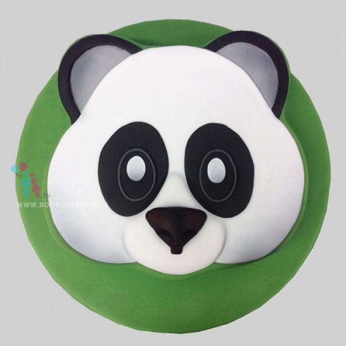 Cute Panda Fondant Cake