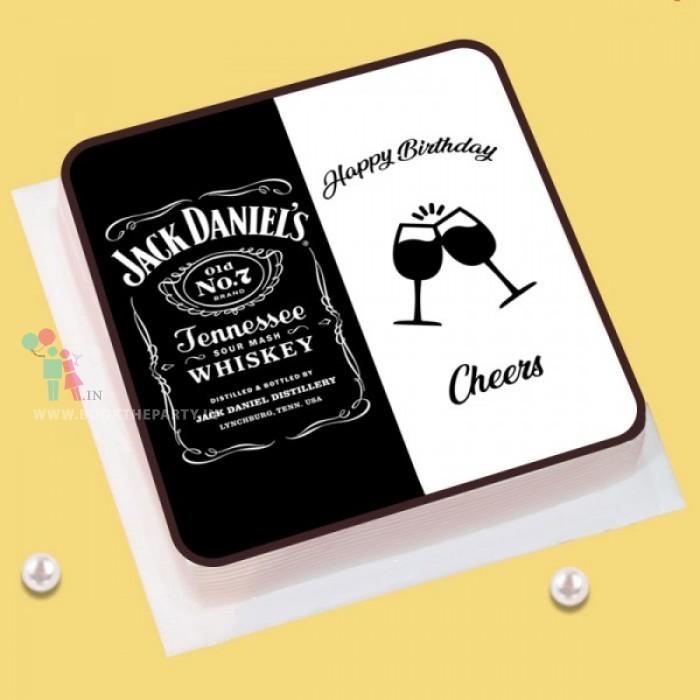 Jack Daniel Liquor Theme Cake