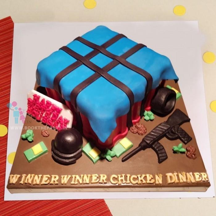 PUBG Game Cake