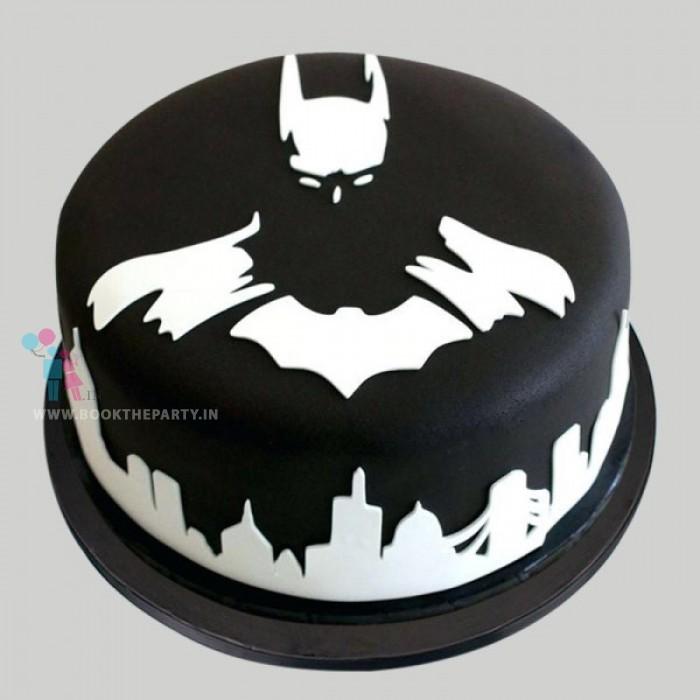 Beaming Batman Cake
