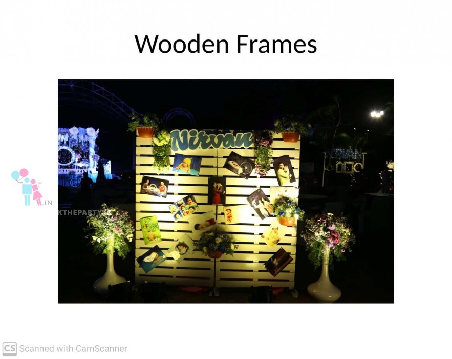 Wooden Frames Backdrop