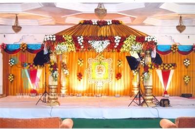 Golden Drapes Mandapam