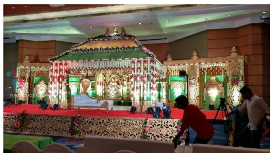 Coconut Mat Mandapam with Step Layer Theme