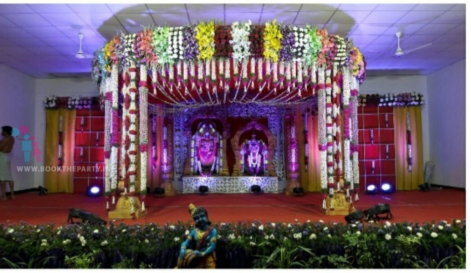 Round Mandapam with Checks Backdrop