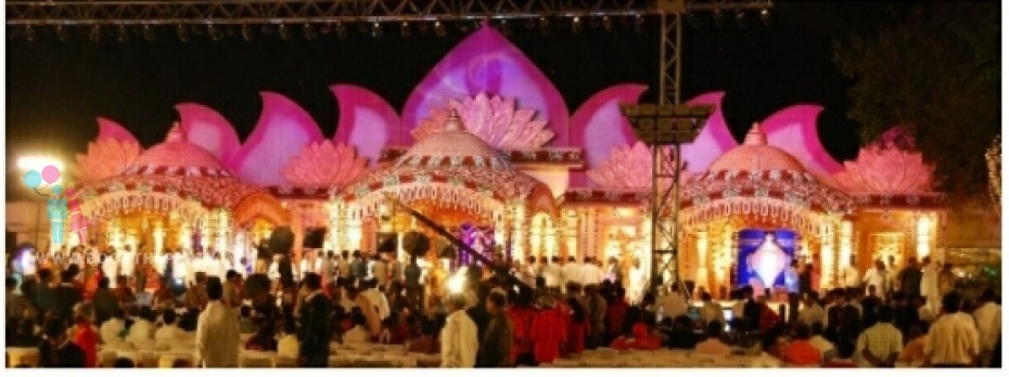 Lotus Backdrop Mandapam