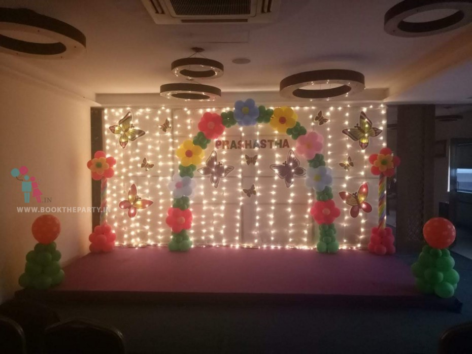 White Drapes with Balloon Arch theme
