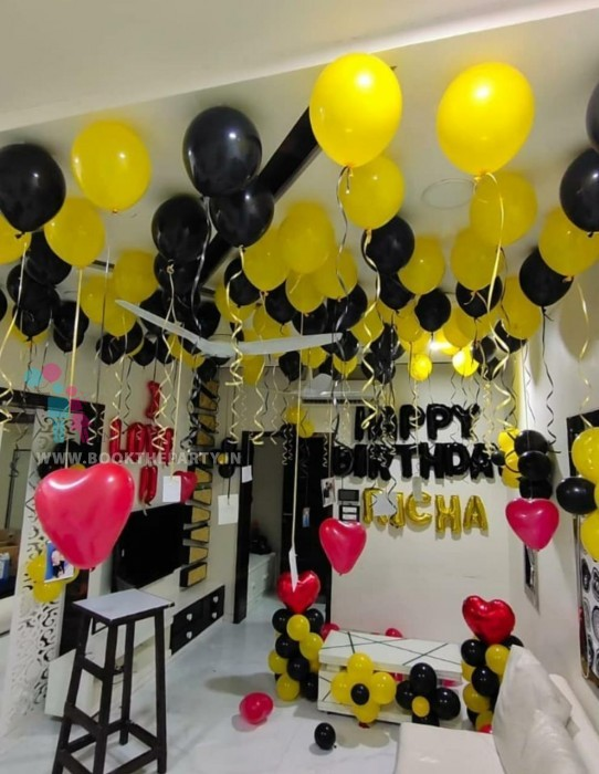 Yellow and Black Balloons Theme