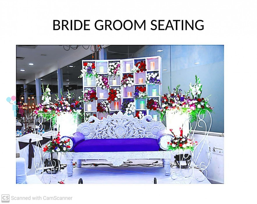 Bride and Groom Setup