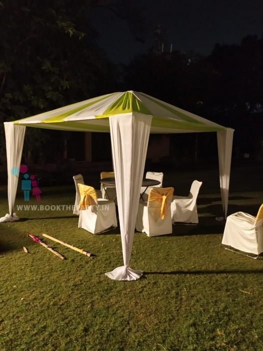 Gazebo Tent with Cloth Drapes 10x10 size
