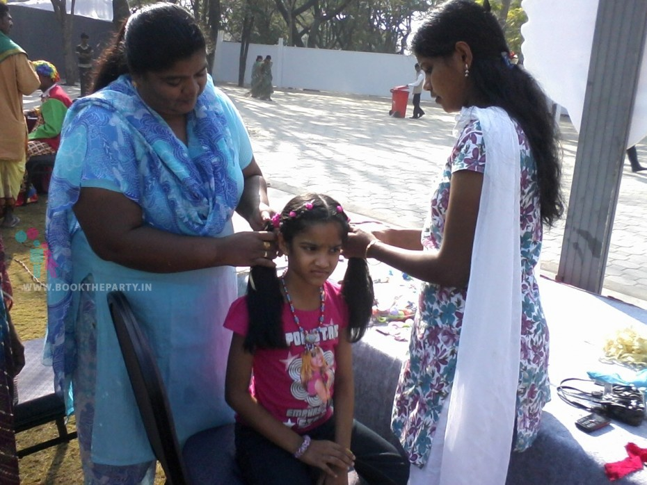 Hair Styling with Beads