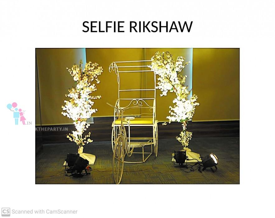 Selfie Rickshaw with 2 Trees