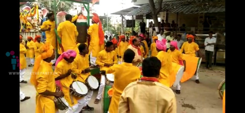 Nassik and Puneri Dhol Team of 40 players