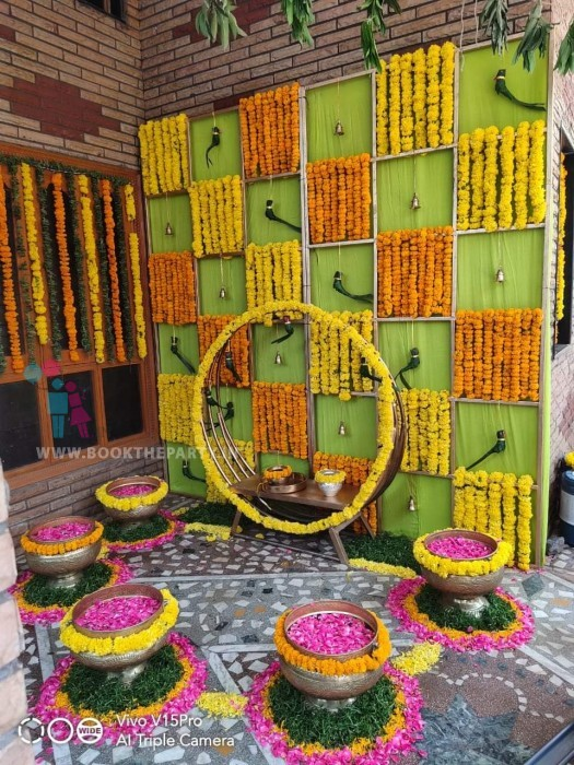 Mangalasnanam Decor With Round Chair Concept